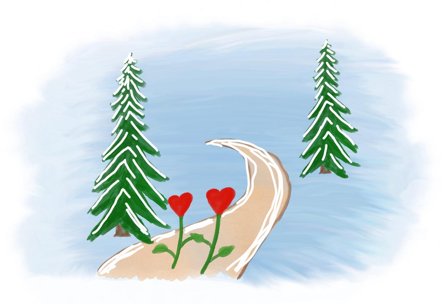 Kjærtegn i snøen